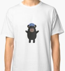 Happy Grizzly Police Officer Classic T-Shirt
