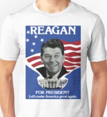 Vintage Ronald Reagan 1980 Campaign Poster - Make America Great Again Unisex T-Shirt