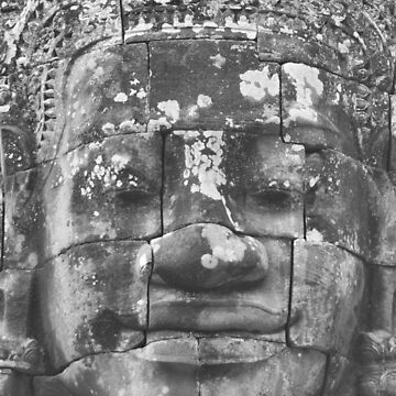 Rock Face in Bayon Temple, Cambodia by gigges
