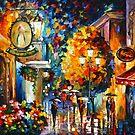 «CAFÉ EN LA CIUDAD ANTIGUA - Leonid Afremov» de Leonid Afremov