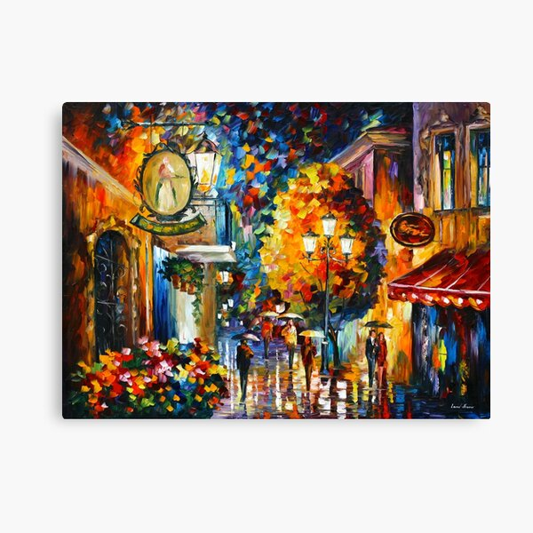 CAFE IN THE OLD CITY - Leonid Afremov Canvas Print