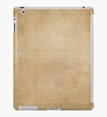 Burlap Feed sack Red stripes iPad Case/Skin