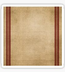 Burlap Feed sack Red stripes Sticker