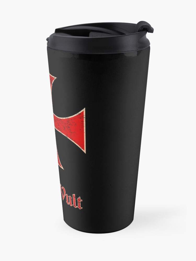 Alternate view of Deus Vult Crusader Templar Cross Travel Mug