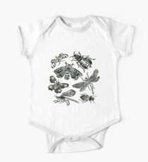 Insect Collection Lino Prints One Piece - Short Sleeve