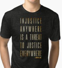 Martin Luther King Jr. Typography Quotes Tri-blend T-Shirt