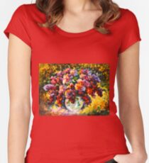 SPRING LILAC - Leonid Afremov Women's Fitted Scoop T-Shirt