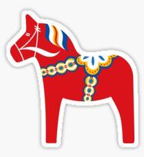 Scandinavian dala horse sticker Sticker