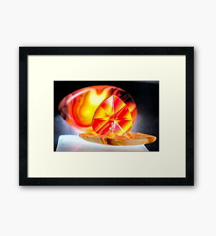 Touch Your Heart Framed Print