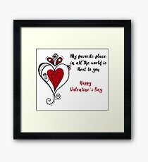 Sn Valentine's Day Love quote Framed Print