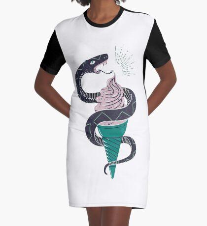 Soft-Serp(ent) Graphic T-Shirt Dress