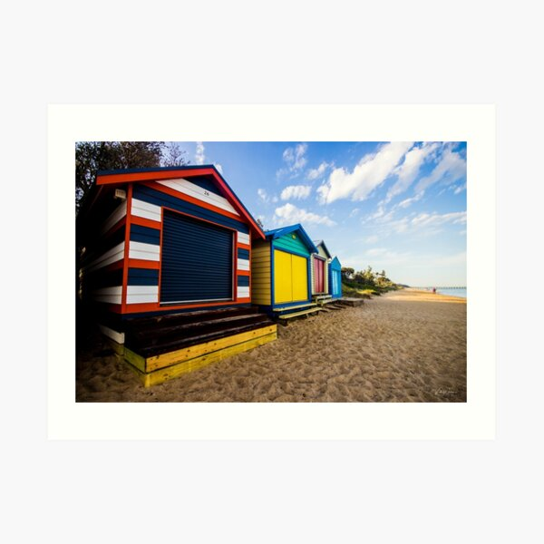 Boat Sheds at Dromana, Mornington Peninsula, Victoria, Australia. Art Print