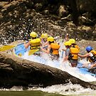 New River Whitewater Raft Spray by SummerJade