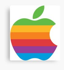 Retro Apple Logo Canvas Print