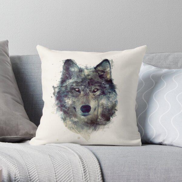 Wolf // Durchhalte dich Dekokissen