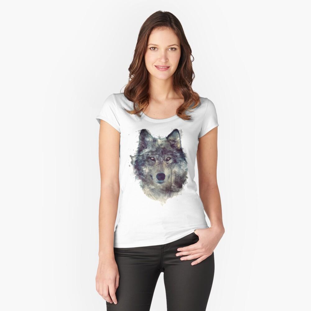Wolf // Durchhalte dich Tailliertes Rundhals-Shirt