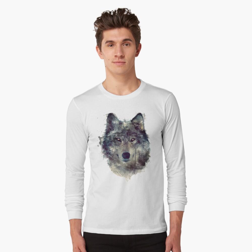 Wolf // Durchhalte dich Langarmshirt