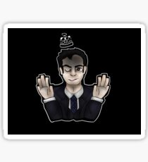 jim moriarty - see me in a crown Sticker