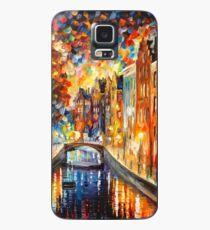 Funda/vinilo para Samsung Galaxy AMSTERDAM - CANAL NOCTURNO - Leonid Afremov