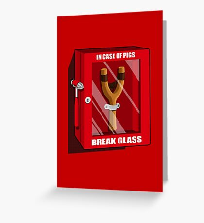 In case of pigs Greeting Card