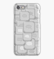 Iphone Case Gray Computer Keys iPhone Case/Skin