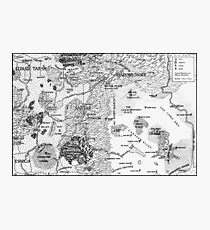 RQ2 DRAGON PASS AND PRAX Map Photographic Print