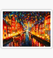 NIGHT COPENHAGEN - Leonid Afremov Sticker