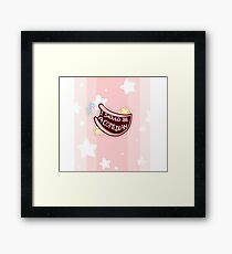 Comedian Badge Framed Print