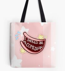 Comedian Badge Tote Bag