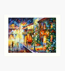 TOWN FROM THE DREAM - Leonid Afremov Art Print