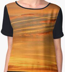 Silky Sunset in Orange Women's Chiffon Top
