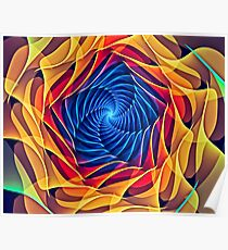 Colorful Spiral Poster