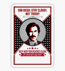 You Stay Classy! San Diego Sticker