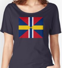 Union Mark Sweden Norway Women's Relaxed Fit T-Shirt
