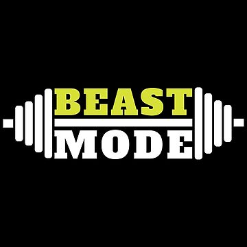 Beast Mode Fitness Gym Workout Lemon And White by GreensDream