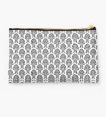 Black and white Paisley Studio Pouch