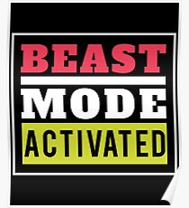Beast Mode Activated Gym Workout Poster