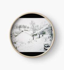 Snowy Rivington Pike Chinese Gardens Clock