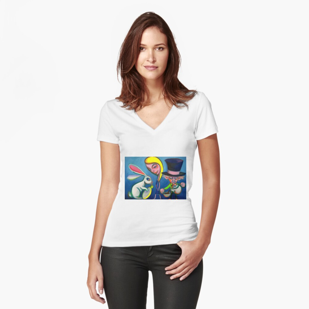 The Usual Suspects (Alternative) Women's Fitted V-Neck T-Shirt Front