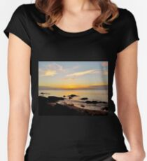 Beach Sunset Women's Fitted Scoop T-Shirt