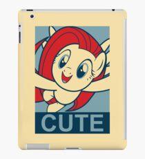 "Fluttershy Cute- ""Hope"" Poster Parody iPad Case/Skin"