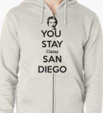 You Stay Classy! San Diego Zipped Hoodie