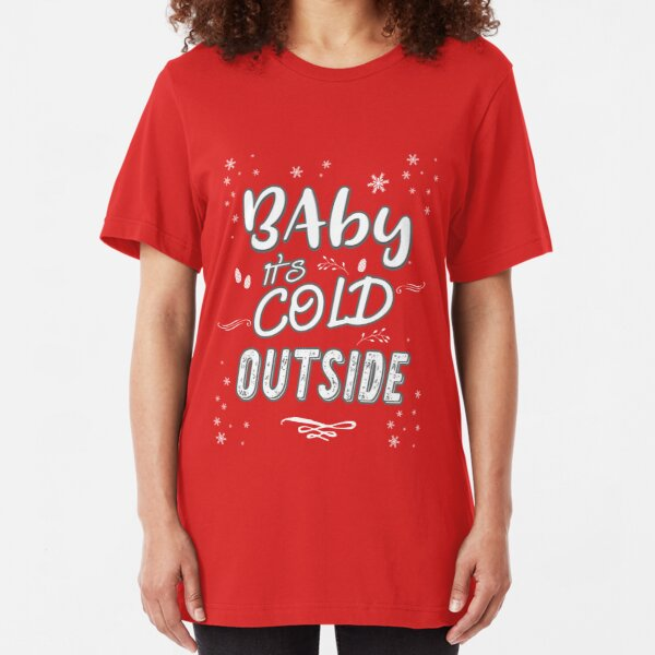 Fun Express Baby Its Cold Outside Holiday T-Shirt Unisex Large Color Black
