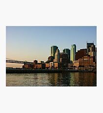 San Francisco Skyline - South Beach Embarcadero Facades Reflect the Sunrise Photographic Print