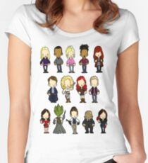Doctors Companions and Friends V.2 Women's Fitted Scoop T-Shirt