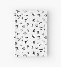 Shadowhunters runes (black and white) Hardcover Journal