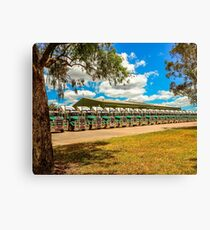 Truck Parking for Christmas Canvas Print