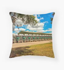 Truck Parking for Christmas Throw Pillow
