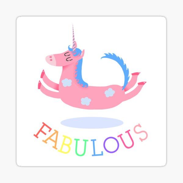 Fabulous Unicorn Sticker