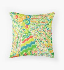 60s hippie psychedelic pattern Throw Pillow
